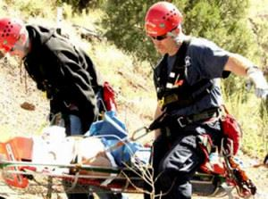 Emergency Personnel Performing a Rescue
